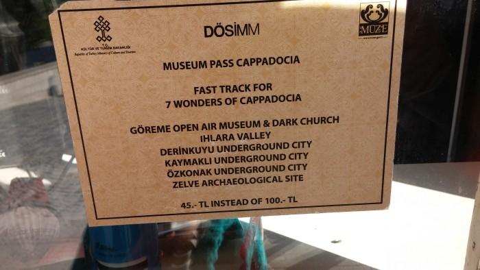 Museum Pass Cappadocia point of sale