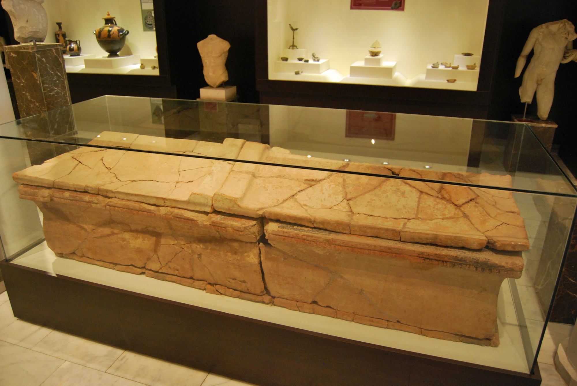 Clazomenae-style sarcophagus from Enez, Archaeological and Ethnographic Museum in Edirne