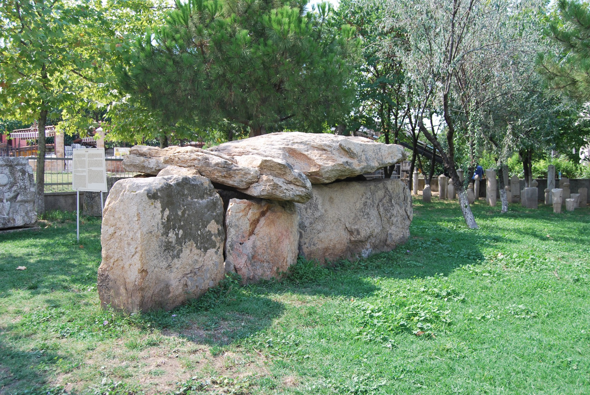 Hacılar Dolmen in the garden of Archaeological and Ethnographic Museum in Edirne