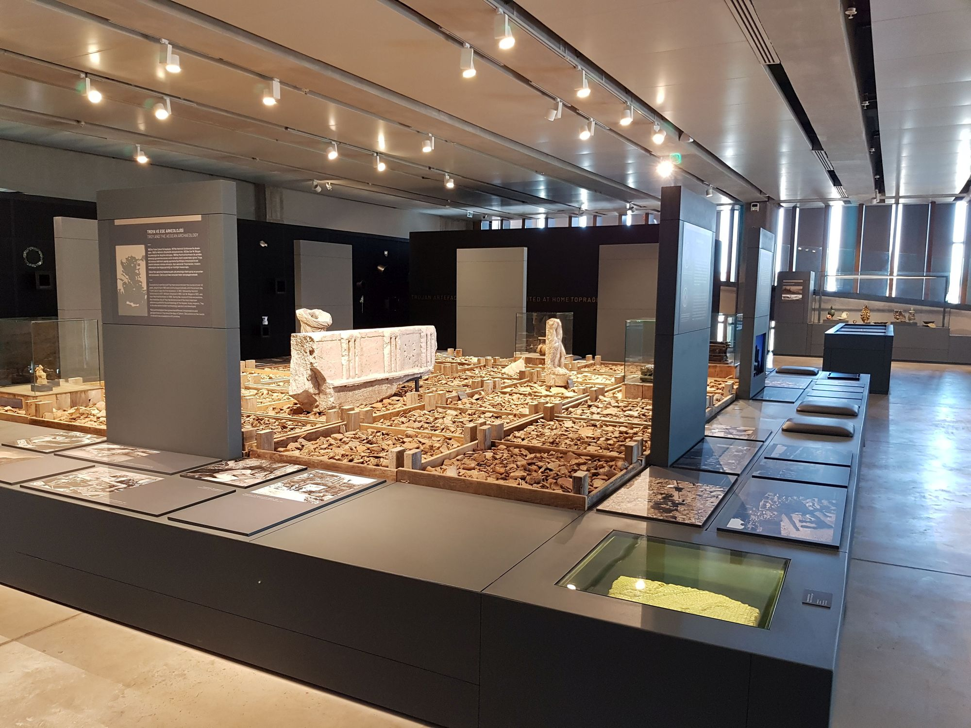 Troy Excavations History exhibition