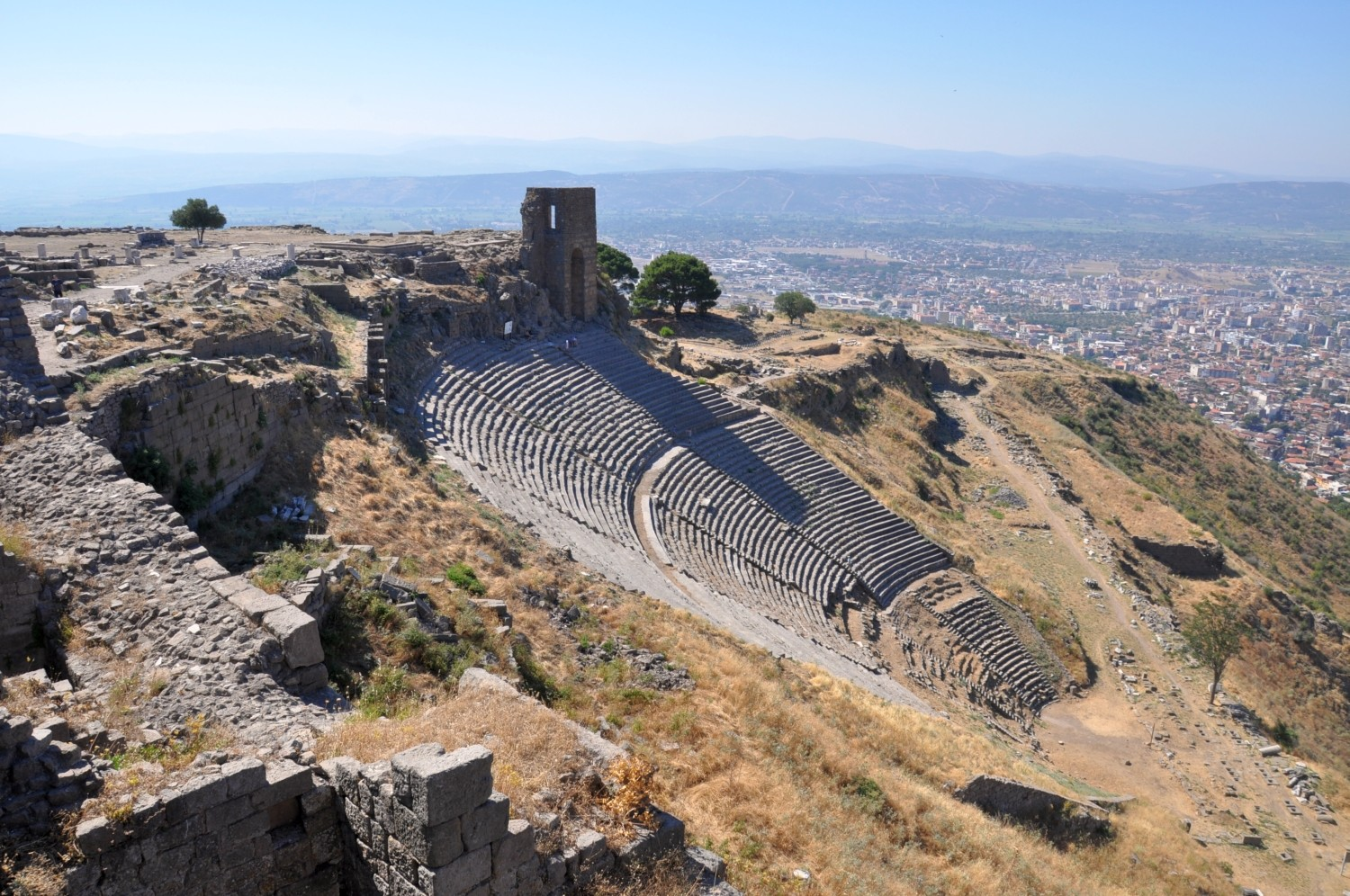 The Greek theatre in Acropolis of Pergamon