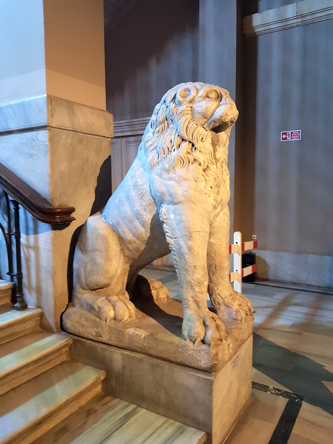 The lion from Bukoleon Palace in Archaeological Museum of Istanbul