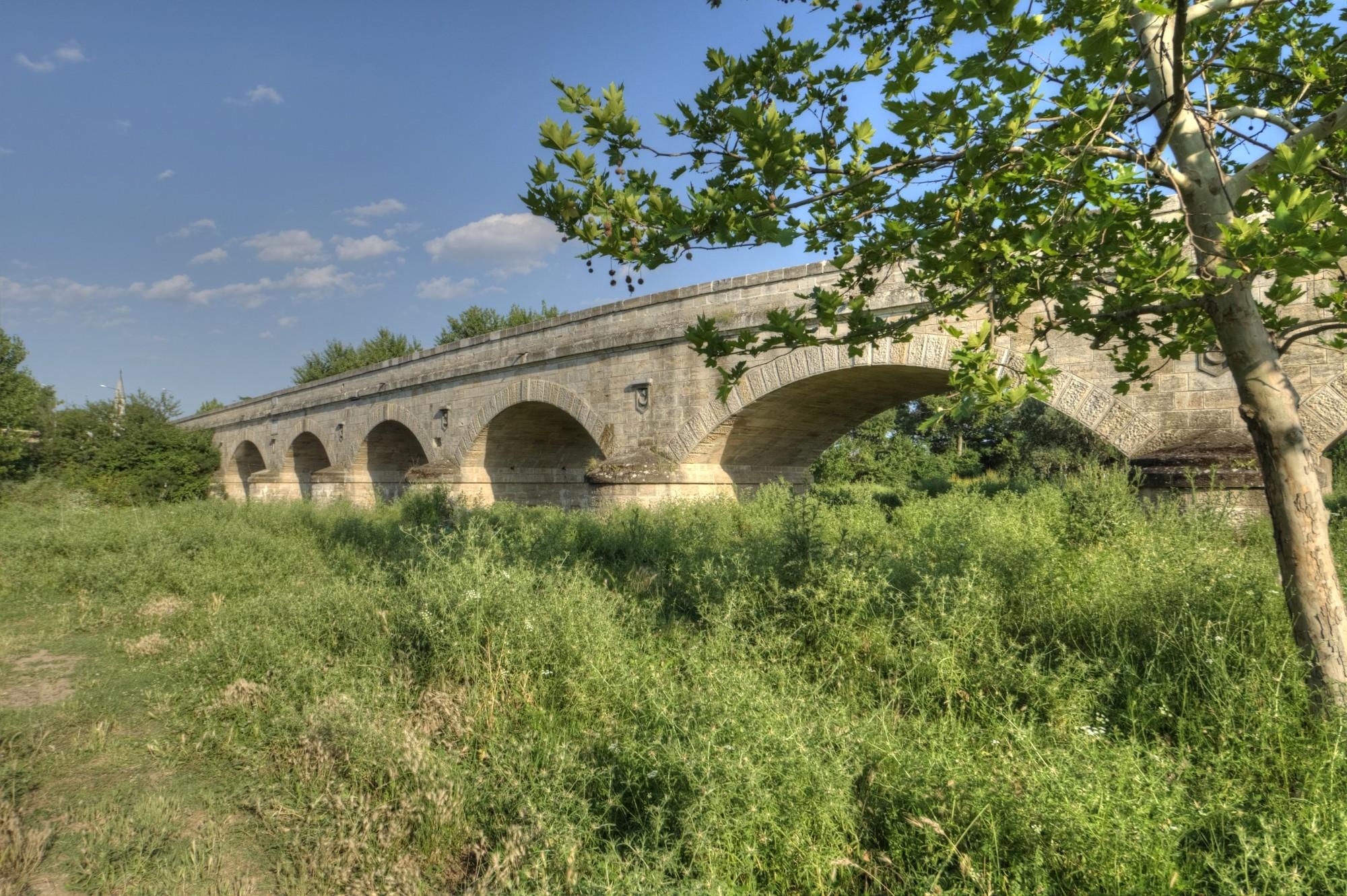 Gazi Mihal Bridge in Edirne