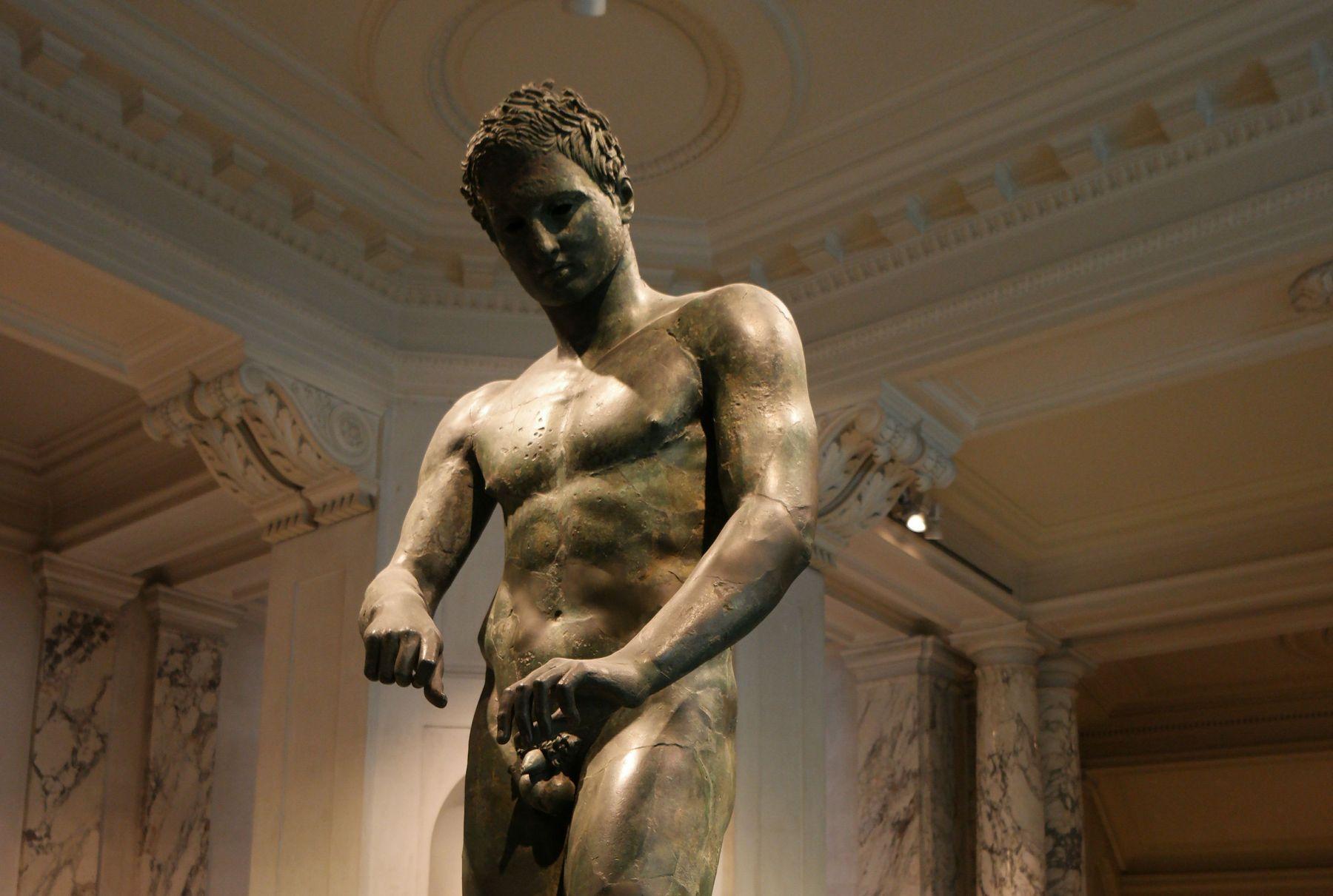 Bronze Statue of an Athlete