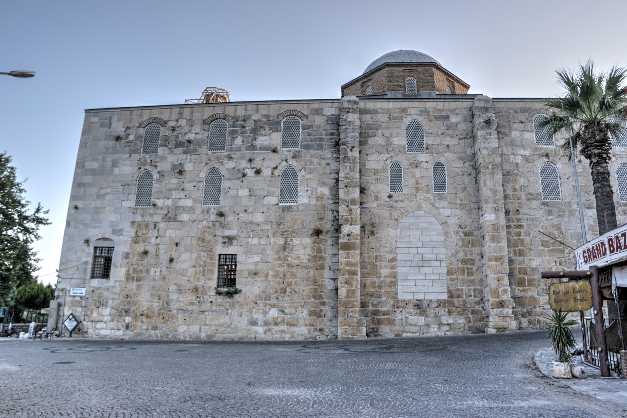 Blocked archway in the southern façade of İsa Bey Mosque
