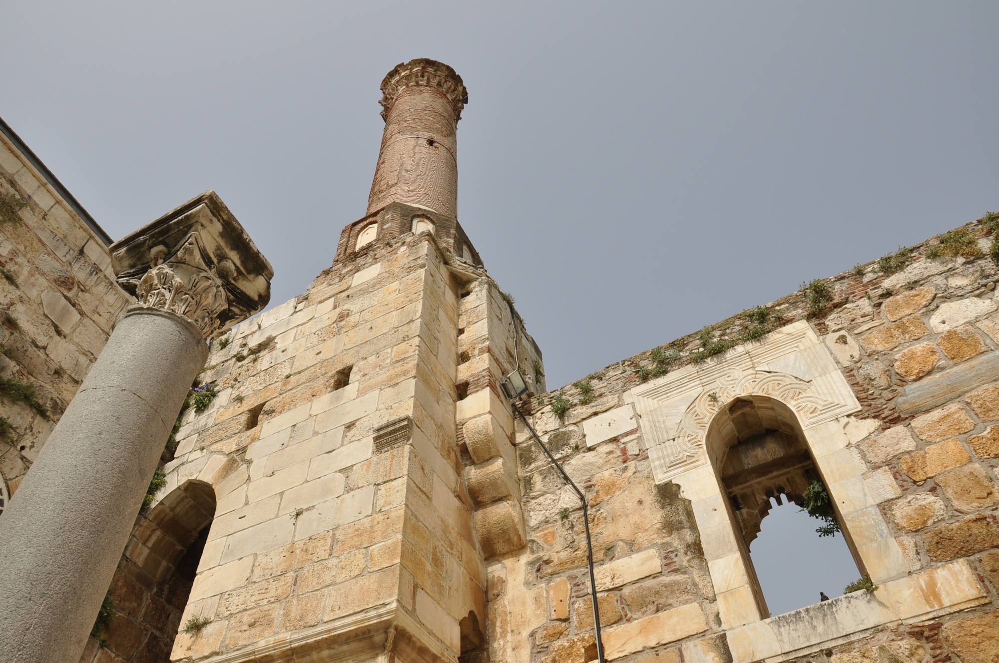 The minaret of İsa Bey Mosque in 2011