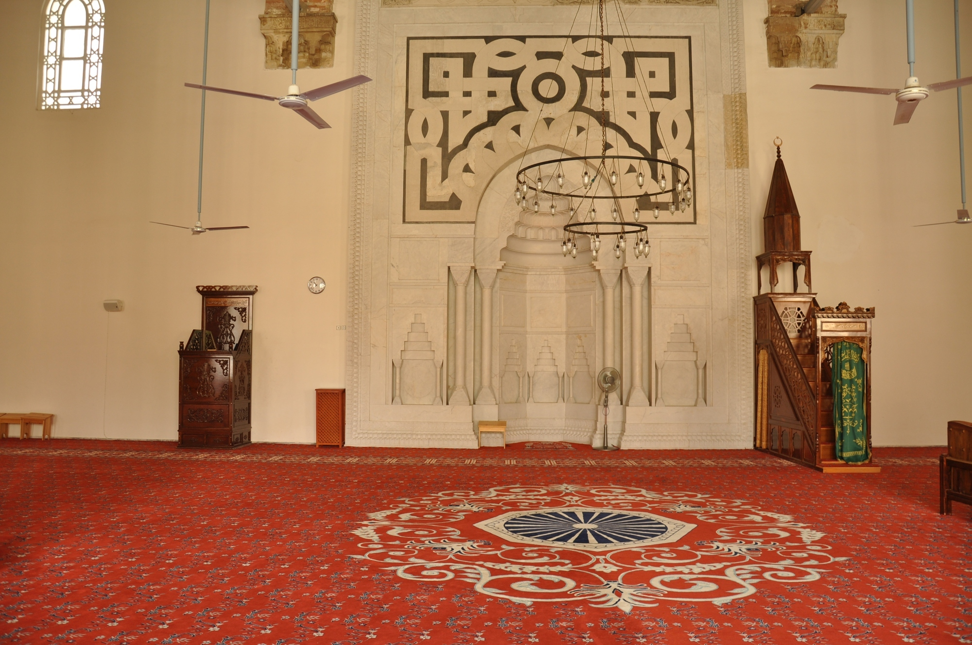 The interior of İsa Bey Mosque without the original decorations