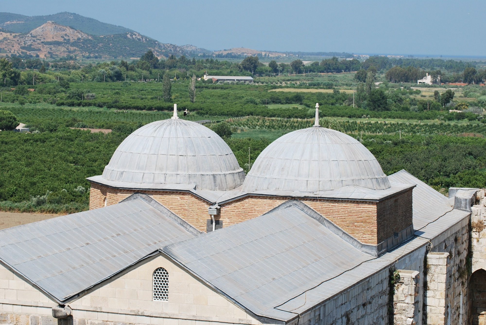 Twin domes of İsa Bey Mosque