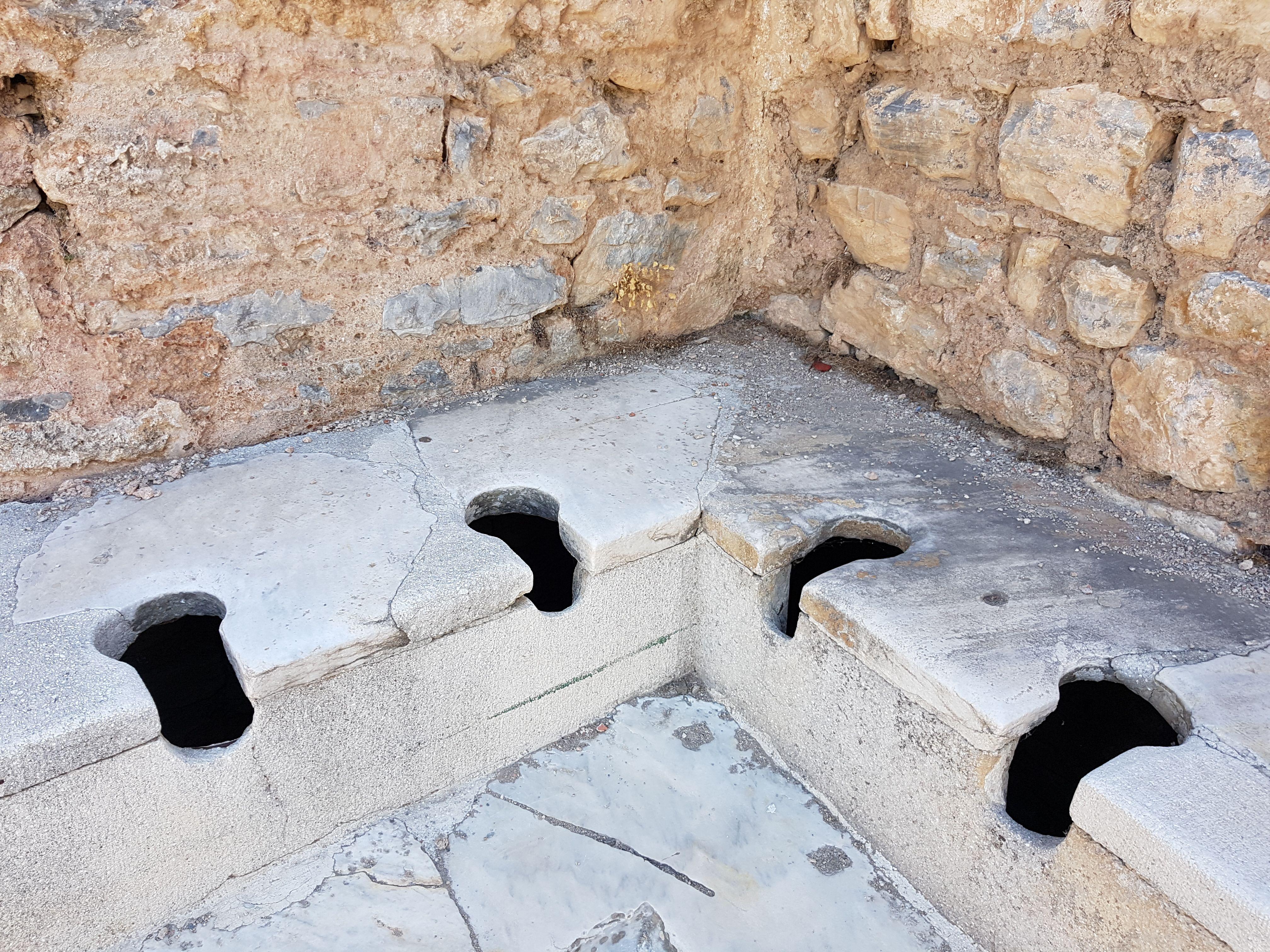 Public latrines in Ephesus