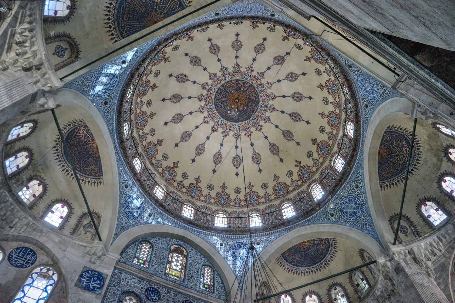 Sokollu Mehmed Pasha Mosque in Fatih - the dome seen from the inside