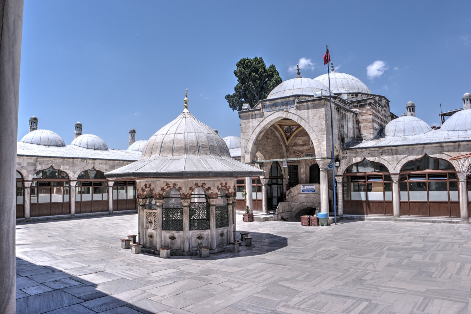 Courtyard of Sokollu Mehmed Pasha Mosque with the ablution fountain