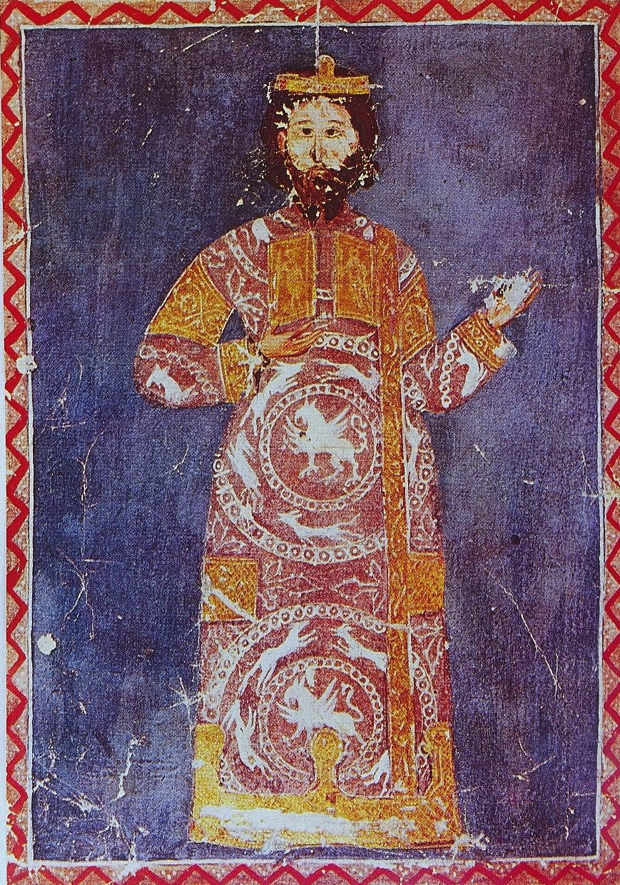 Emperor Alexios V Doukas, Miniature from the Chronike diegesis of Niketas Choniates, Bildarchiv der Österreichische Nationalbibliothek