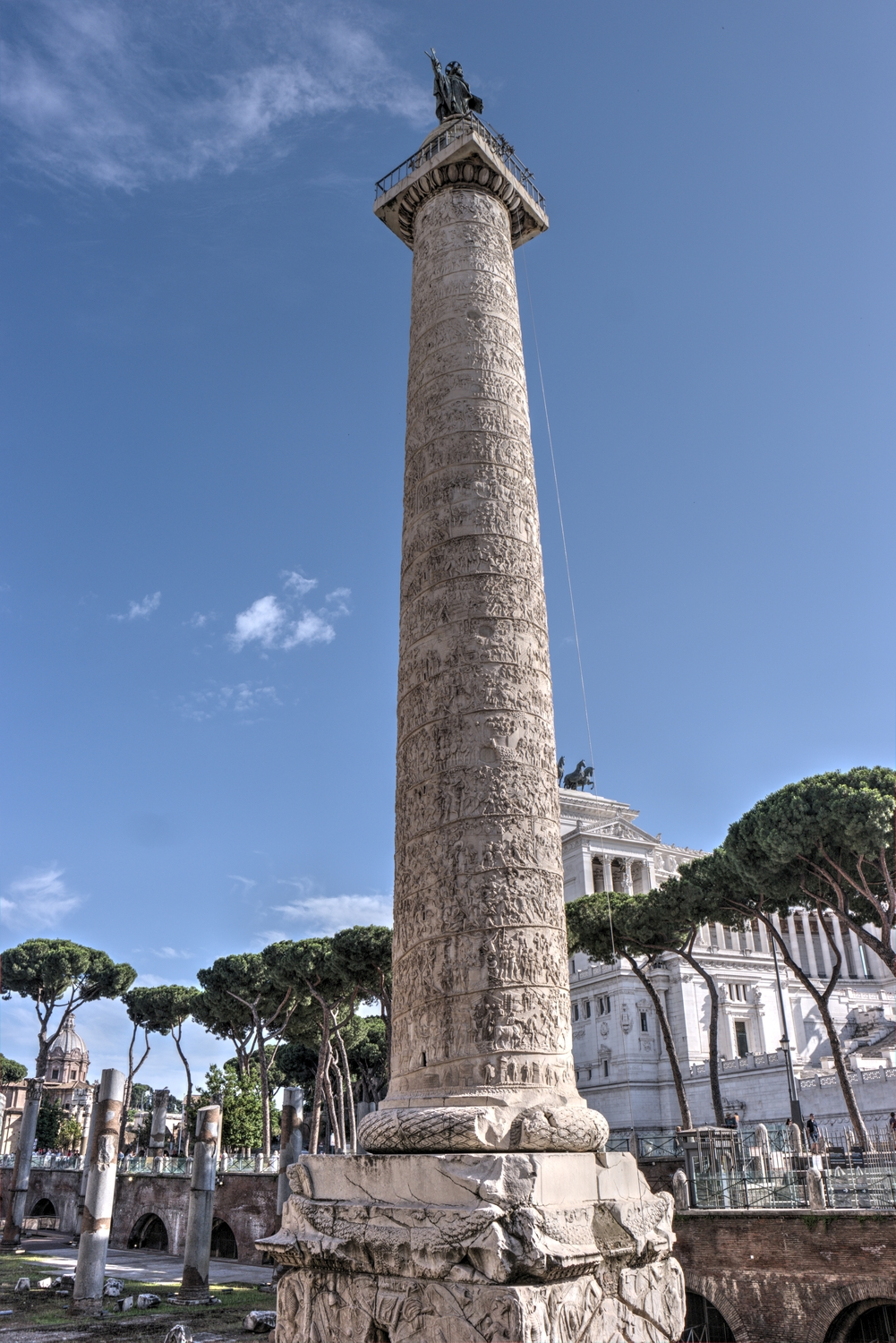 Trajan's Column in Rome - the model for the Column of Theodosius in Constantinople