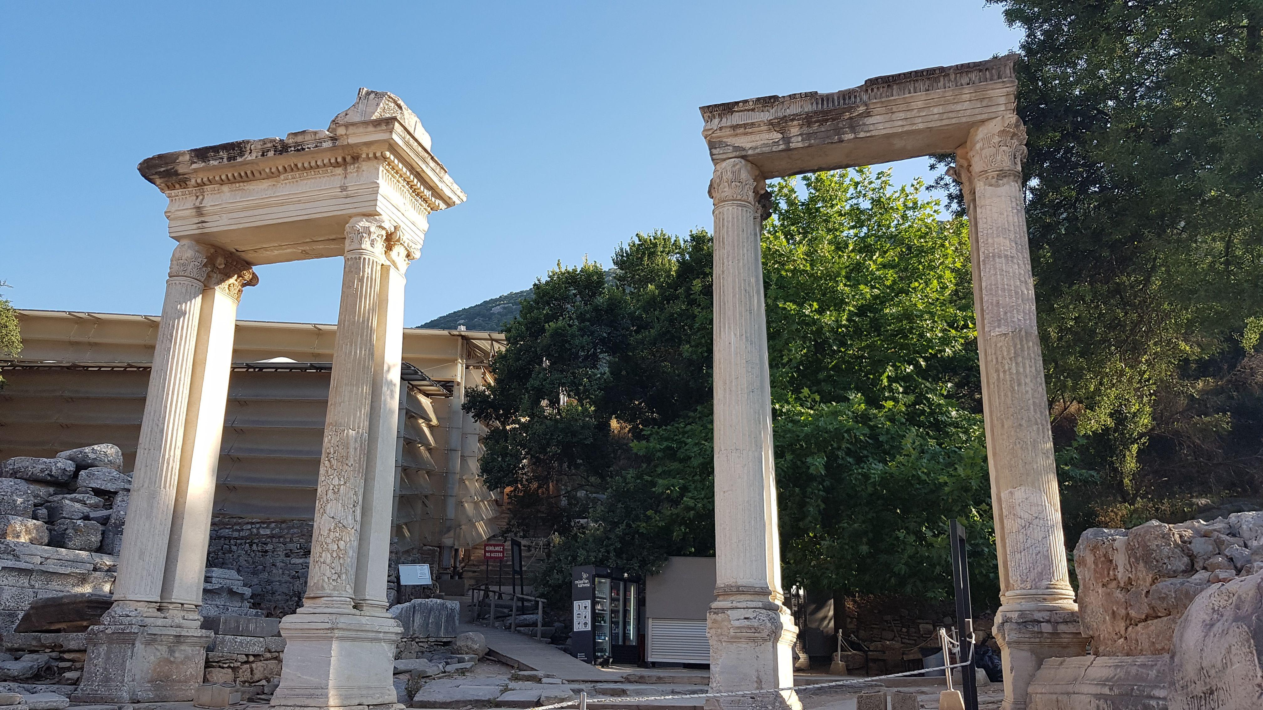 So-called Hadrian's Gate on the Triodos Square in Ephesus