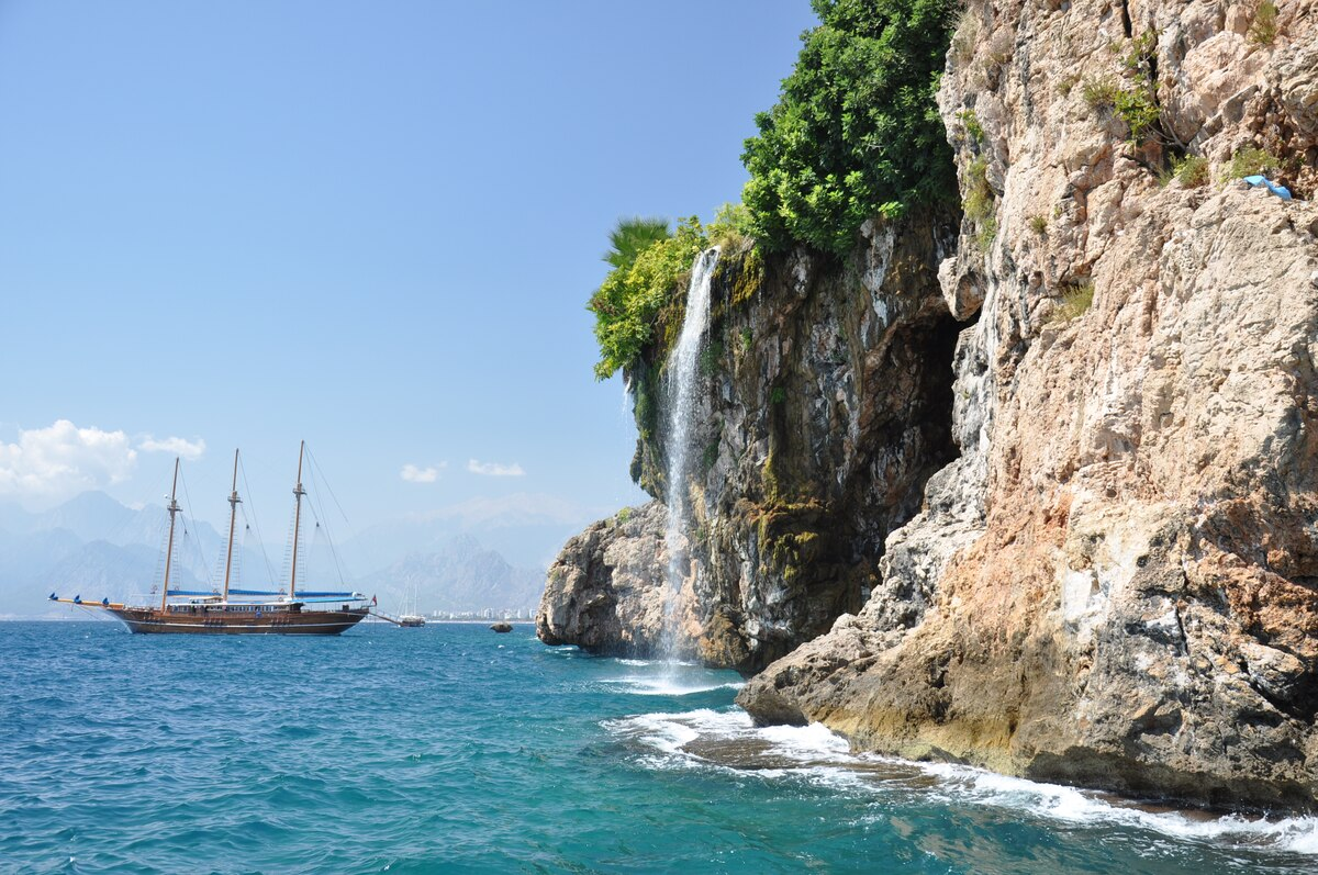 The Mediterranean coast in Antalya Province