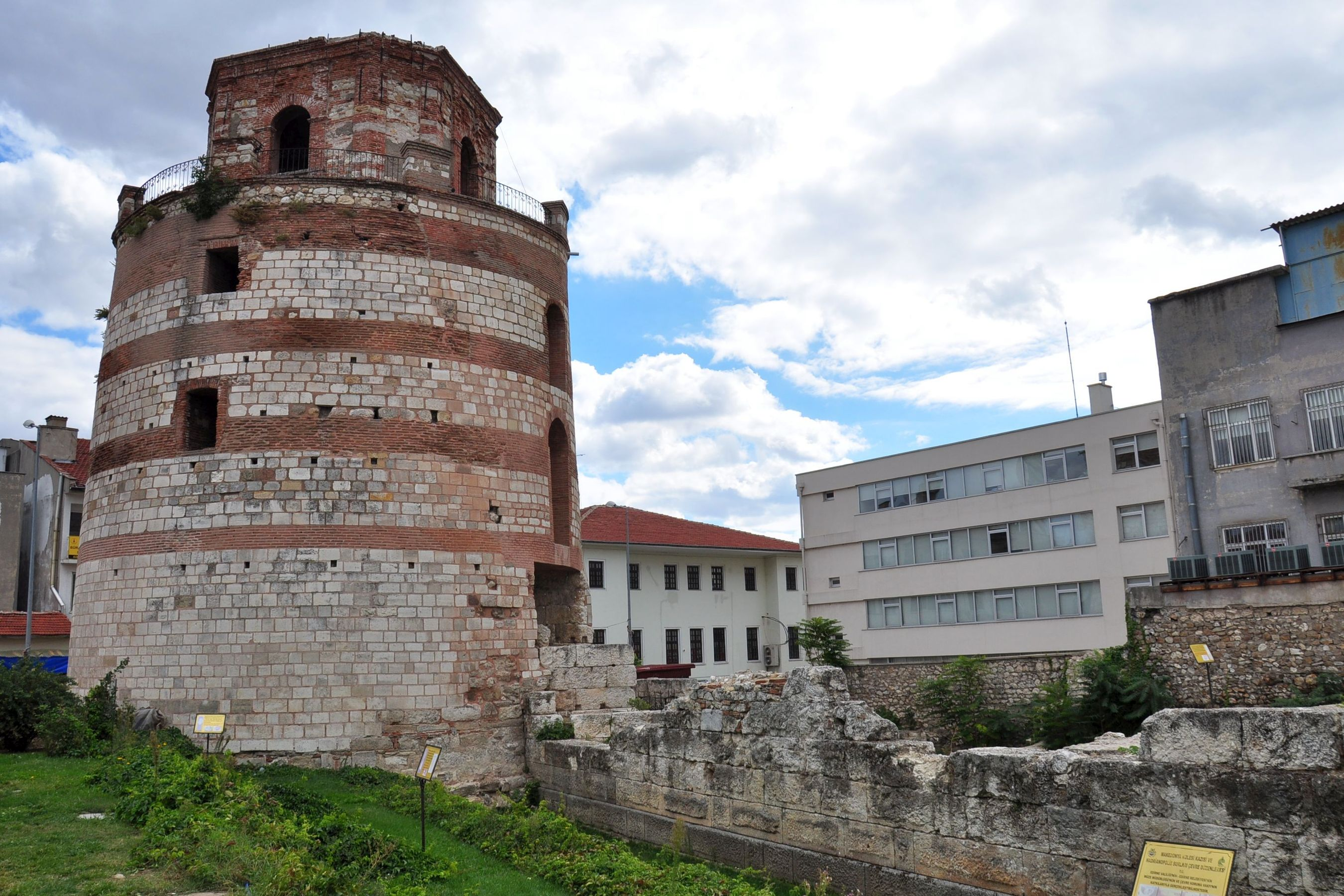 Macedonian Tower and ancient fortifications of Adrianopolis in Edirne