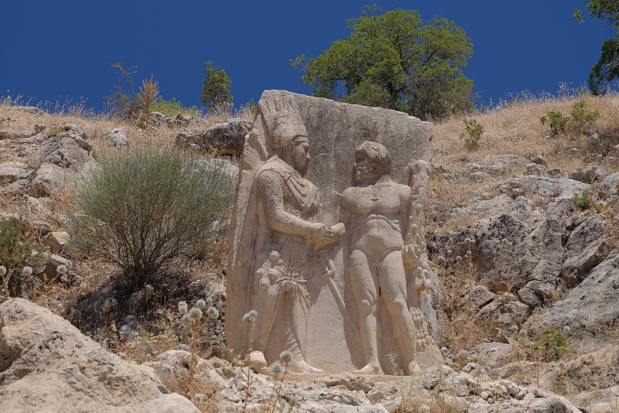 Relief depicting the handshake between Heracles and Mithrydates, Site III in Arsameia