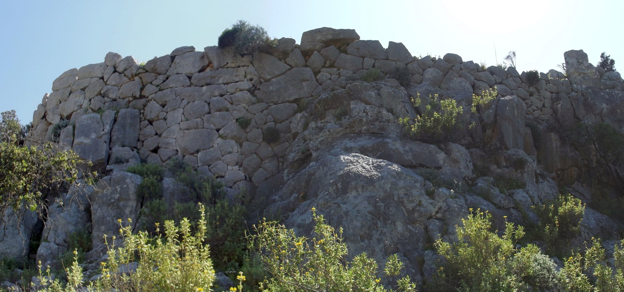 Fig. 10. Part of the acropolis fortification which serves also as terrace wall