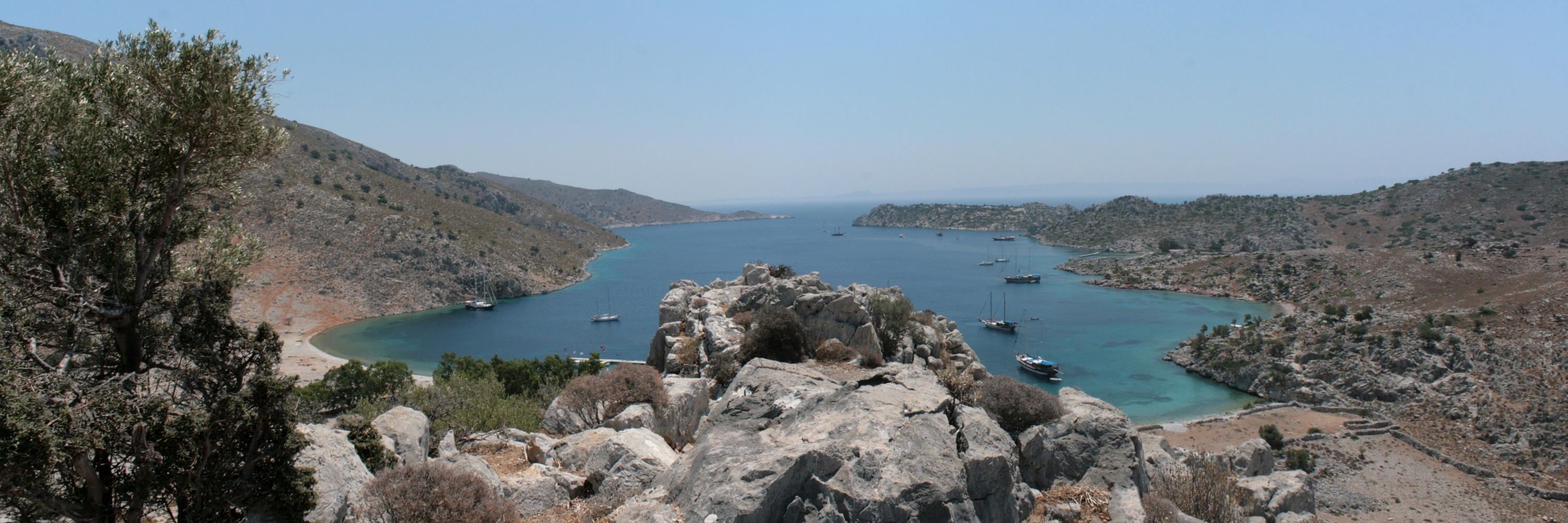 Fig. 3. View from the acropolis of Loryma across the bay