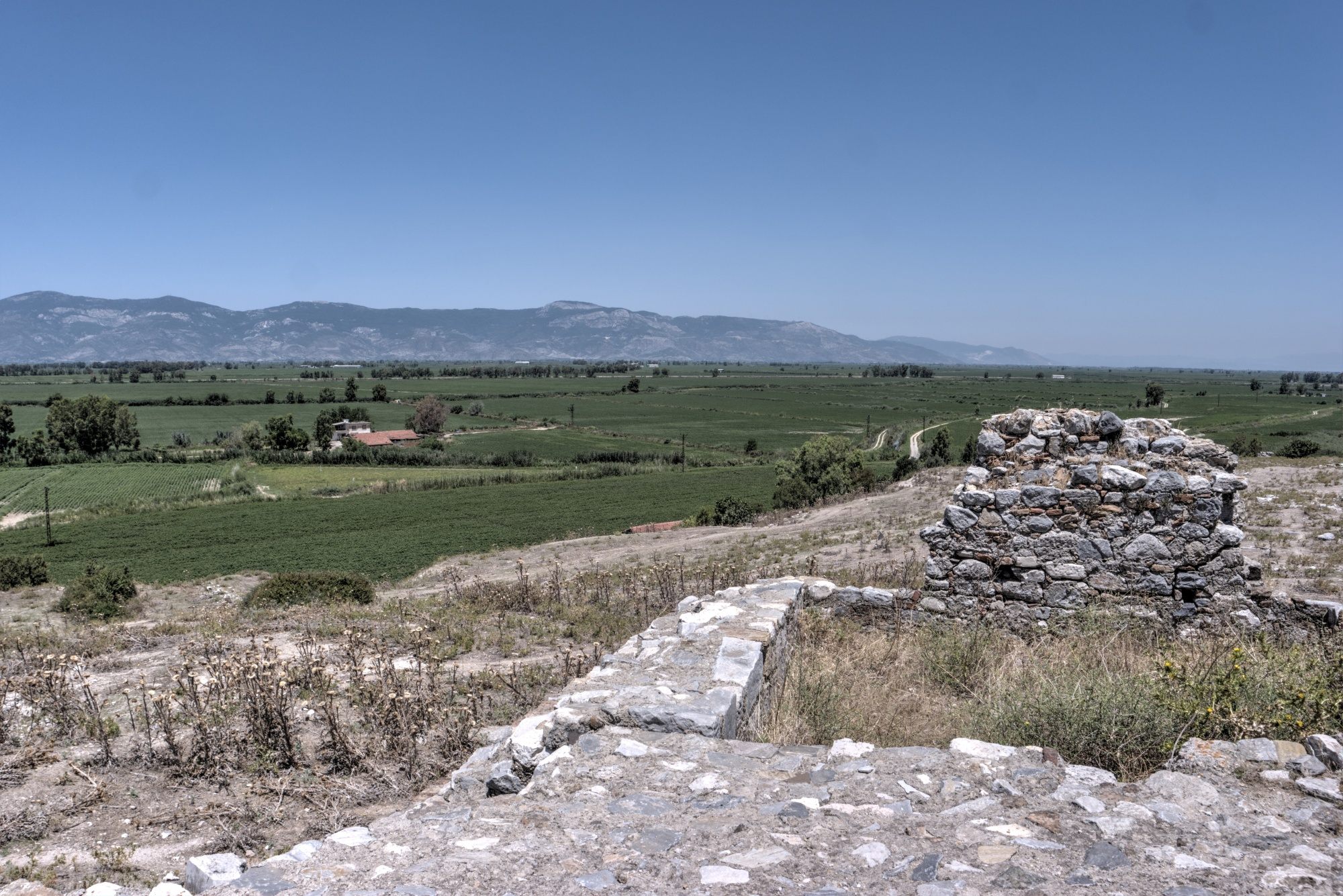 View of the Dilek Peninsula from the Byzantine-Ottoman fortress of Miletus