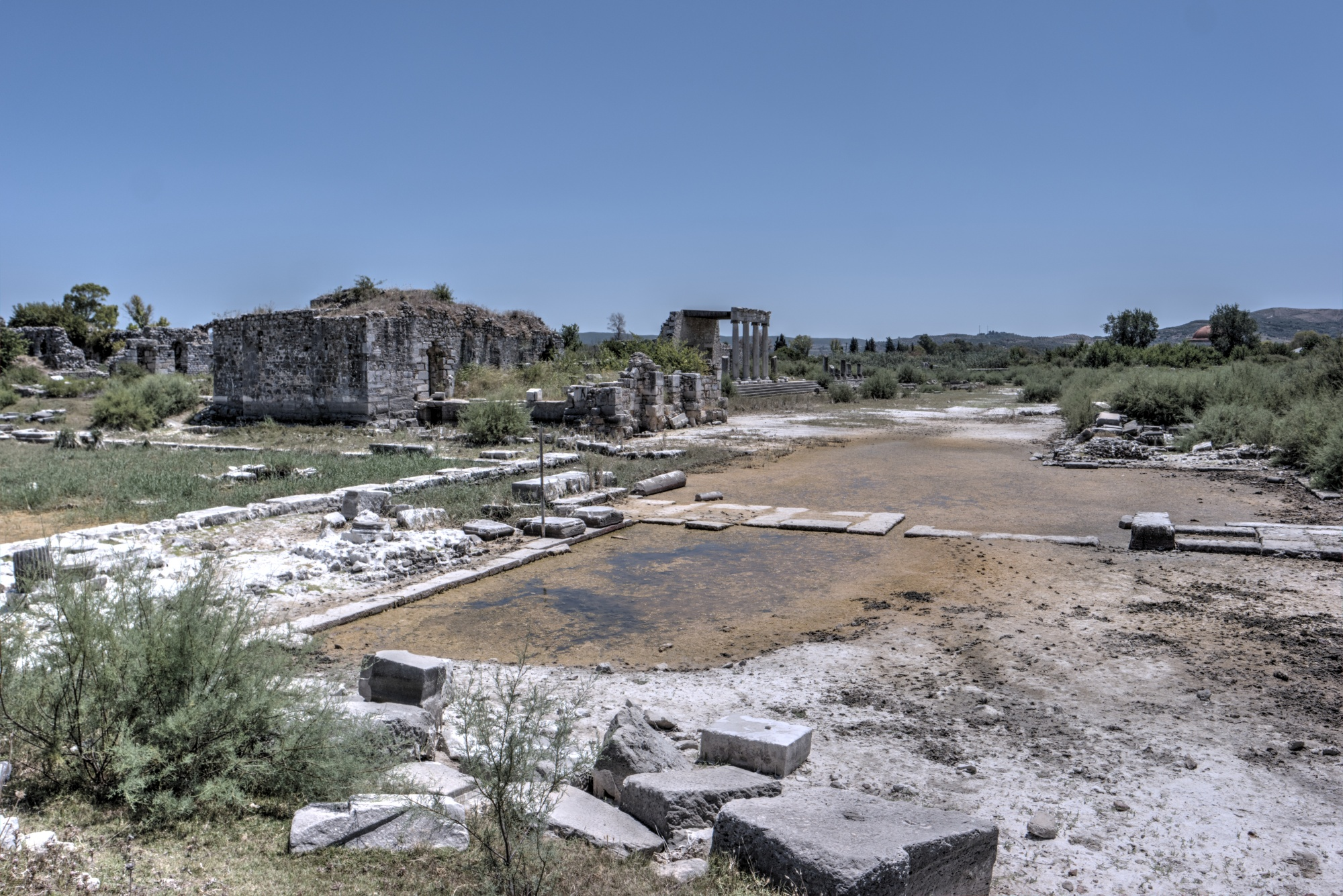The view from the Harbour Gate to the North Agora in Miletus