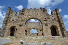 The basilica in Aspendos