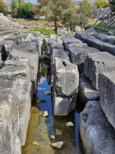 Flood water within the archaeology of the Christian Basilica, Apollo Temple in Didyma