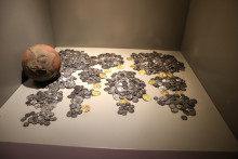 A part of the coin collection, Ephesus Museum in Selçuk