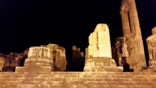 Temple of Apollo in Didyma at night