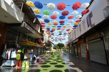 Umbrella Street in Antalya