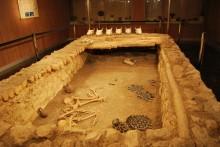 Reconstruction of Alacahöyük tomb