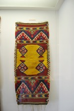 Prayer rug from Edirne's Eski Cami, ethnographic section, Archaeological and Ethnographic Museum in Edirne