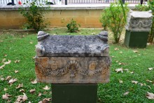 Roman period ossuary in the museum's garden