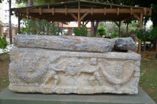 Roman period sarcophagus in the museum's garden