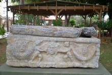 Roman period sarcophagus in the museum's garden