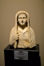 Bust of a woman from Roman period