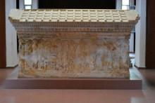 Polyxena Sarcophagus from Kızöldün tumulus, Gümüşçay district near Biga, the 6th century BCE, Archaeology Museum in Çanakkale