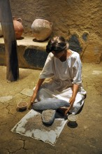Miletus Museum - reconstruction of Minoan kitchen