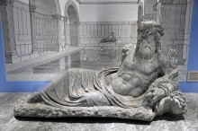 Miletus Museum - statue of River God from Faustina Baths in Miletus