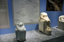 Miletus Museum - statues of seated women from the sacred way to Didyma