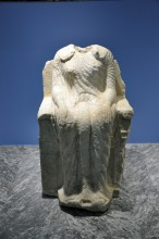 Miletus Museum - statue of a seated woman from the sacred way to Didyma