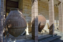 Huge vessels known as pithos, once used for food storage