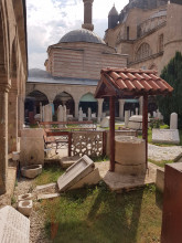 Museum of Turkish and Islamic Arts in Edirne - a courtyard and a well