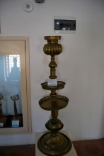 Brass candlestick from Old Mosque in Edirne, 18th-19th century, Selimiye Foundation Museum in Edirne