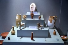 Terracotta figurines found in Cumhurriyet Square excavations - Tarsus Museum