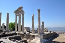 Trajaneum, the Roman temple, in Acropolis of Pergamon