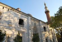 The exterior of Bursa's Green Mosque