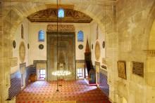 The interior of Bursa's Green Mosque