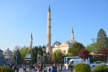 Üç Şerefeli Mosque - from the distance