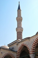 Üç Şerefeli Mosque - one of the minarets